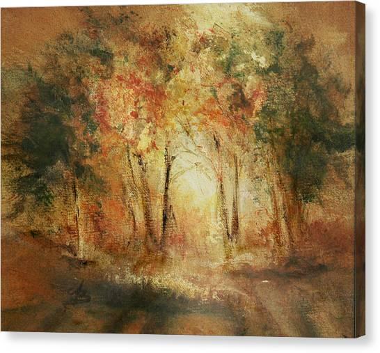 Autumn Sun Canvas Print by Aneta  Berghane
