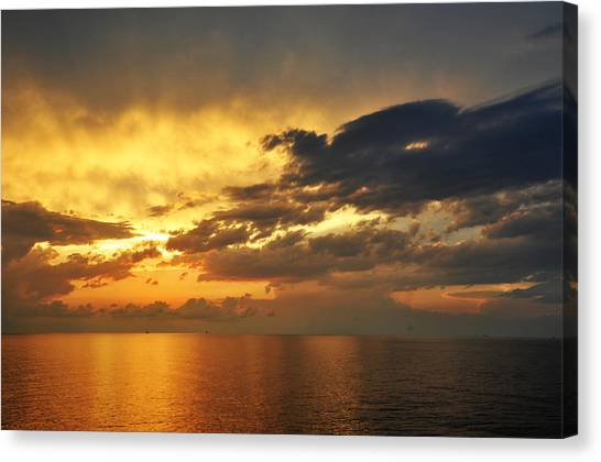 Autumn Sunrise In The Gulf  Canvas Print by Bill Perry