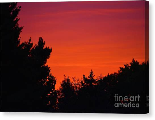 Canvas Print featuring the photograph Autumn Sunrise by Patti Whitten