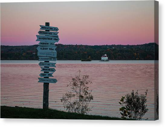 Autumn Sunset At Esopus Meadows Canvas Print