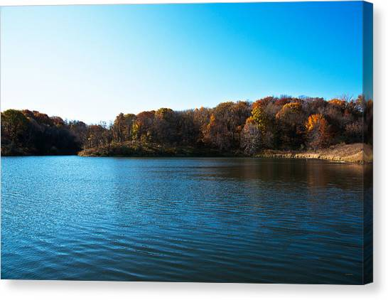 Canvas Print featuring the photograph Autumn The In Loess Hills by Edward Peterson