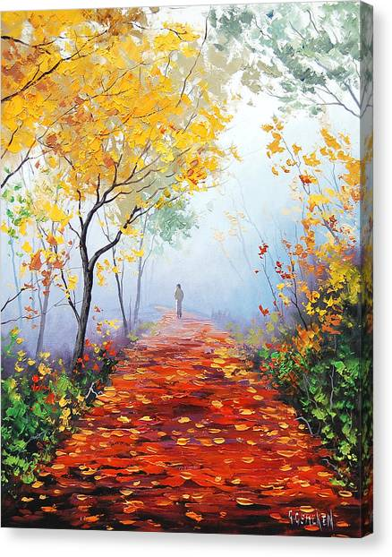 Elm Canvas Print - Autumn Trail by Graham Gercken