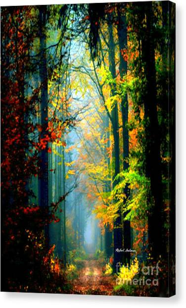 Autumn Trails In Georgia Canvas Print