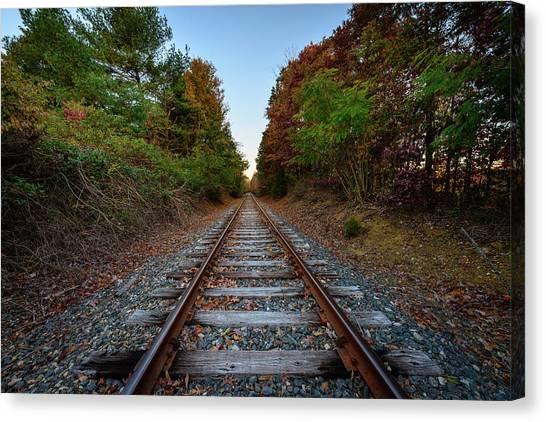 Autumn Train Canvas Print