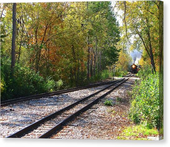 Autumn Train Canvas Print