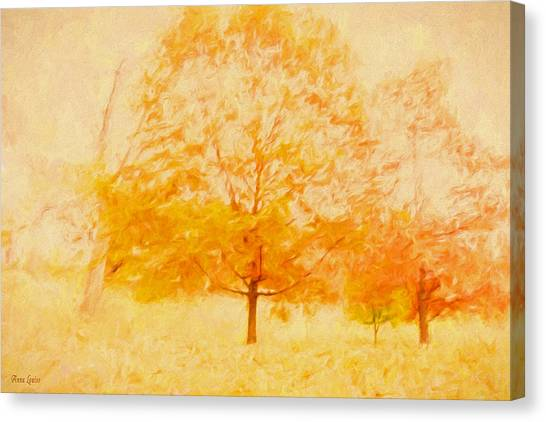Autumn Trees Abstract Canvas Print