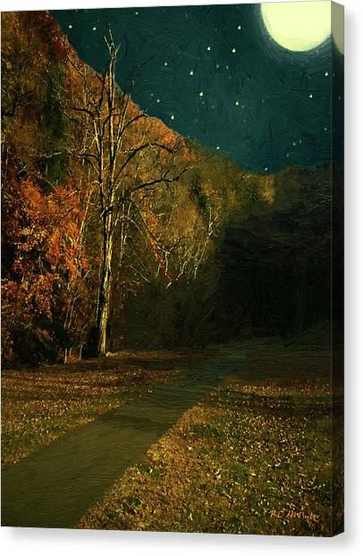 Autumn Tunnel Canvas Print
