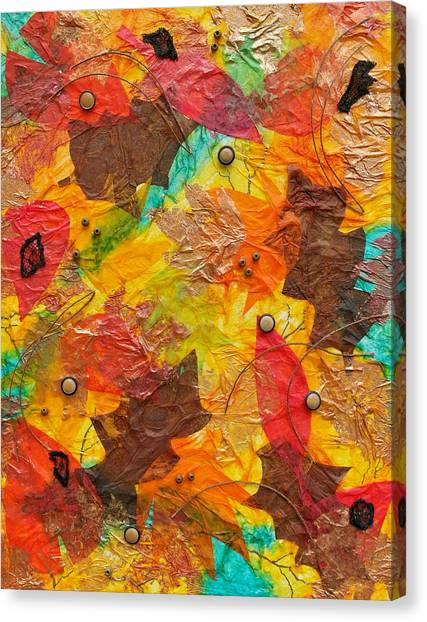 Autumn Leaves Underfoot Canvas Print