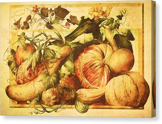 Autumn Vegetable Harvest  Canvas Print