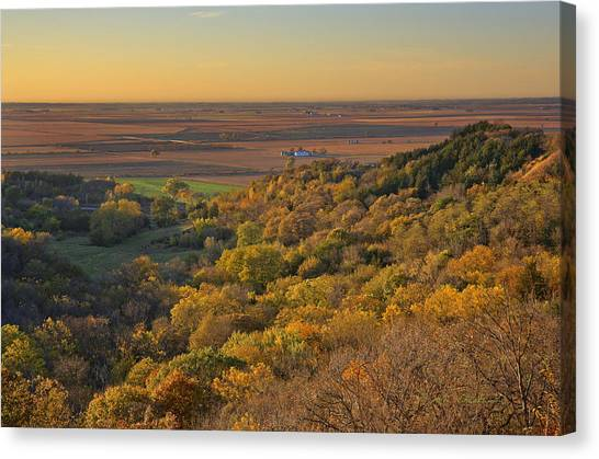Canvas Print featuring the photograph Autumn View At Waubonsie State Park by Edward Peterson