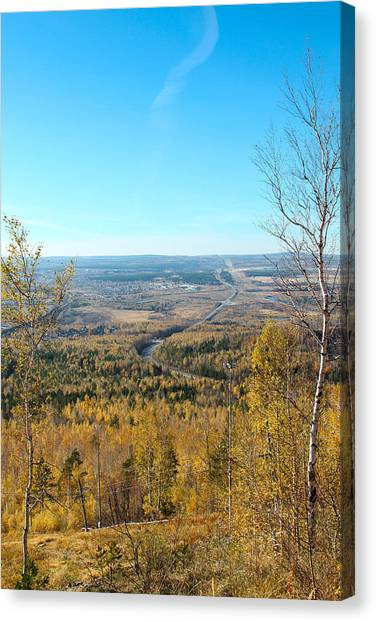 Ural Mountains Canvas Print - Autumn View by Yana Reint