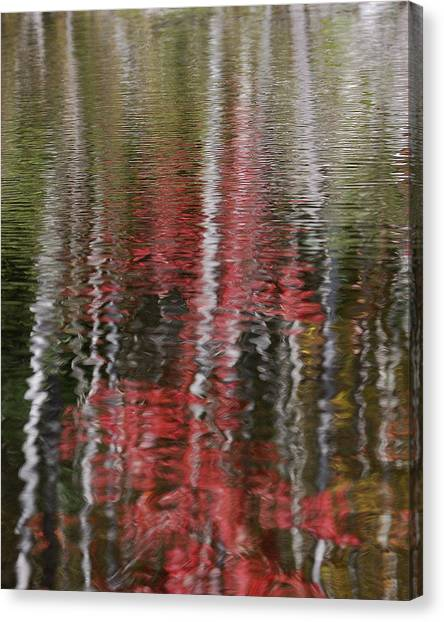 Impressionistic Canvas Print - Autumn Water Color by Susan Capuano