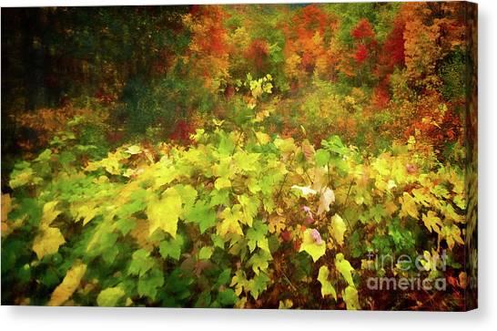 Autumn Watercolor Canvas Print
