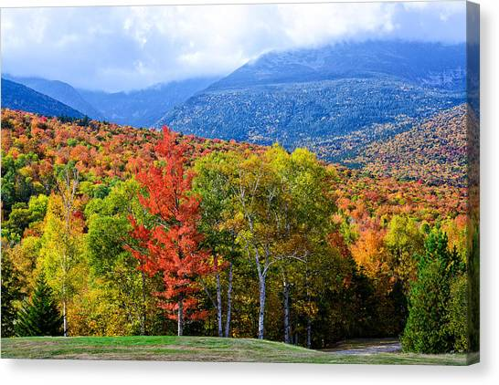 Canvas Print featuring the photograph Autumn White Mountains Nh by Michael Hubley