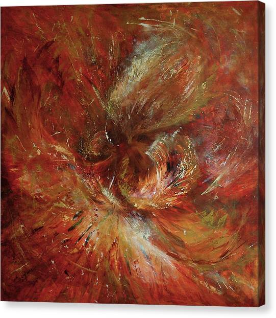 Autumn Wind Canvas Print by Aneta  Berghane