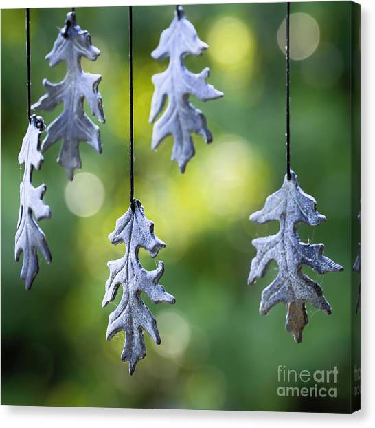 Wind Chimes Canvas Print - Autumn Wind Chimes by Patrick M Lynch