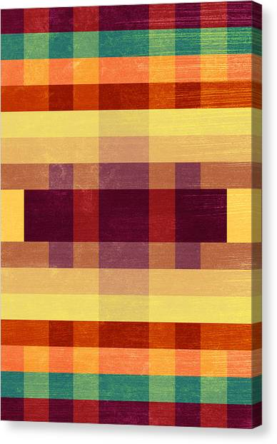 Plaid Canvas Print - Autumn Winds by VessDSign
