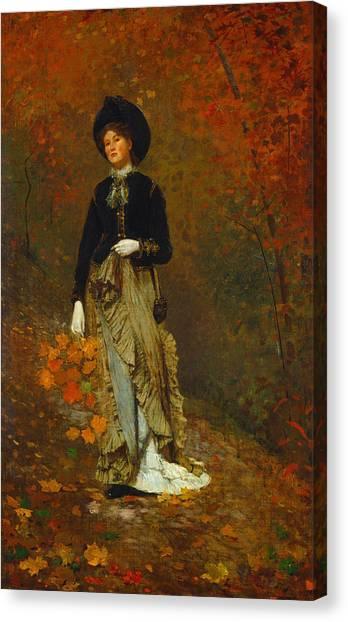 Winslow Canvas Print - Autumn by Winslow Homer