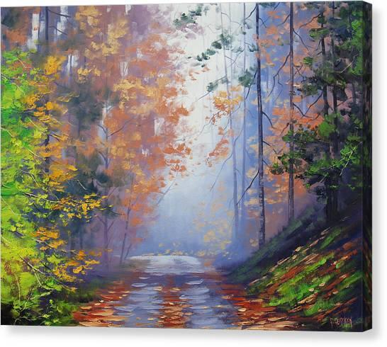 Amber Canvas Print - Autumn Woods by Graham Gercken