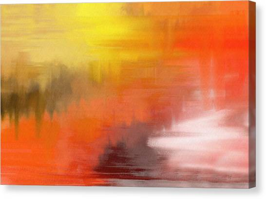 Canvas Print featuring the digital art Autumnal Abstract  by Shelli Fitzpatrick