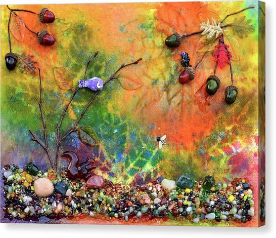Woodland Canvas Print - Autumnal Enchantment by Donna Blackhall