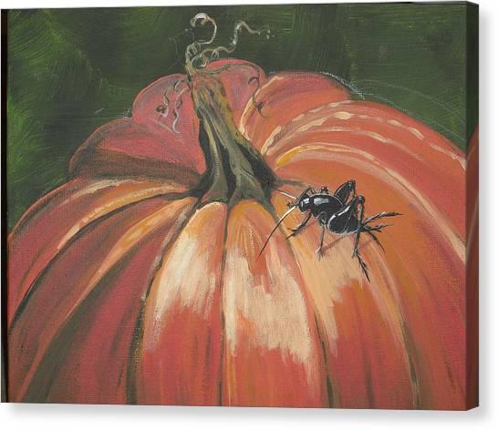 Autumnal Friend Canvas Print by Jana Caissie