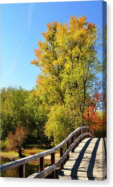 New England Revolution Canvas Print - Autumnal North Bridge by Luke Moore