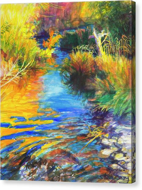 Country Scene Canvas Print - Autumnal Reflections by Steve Henderson
