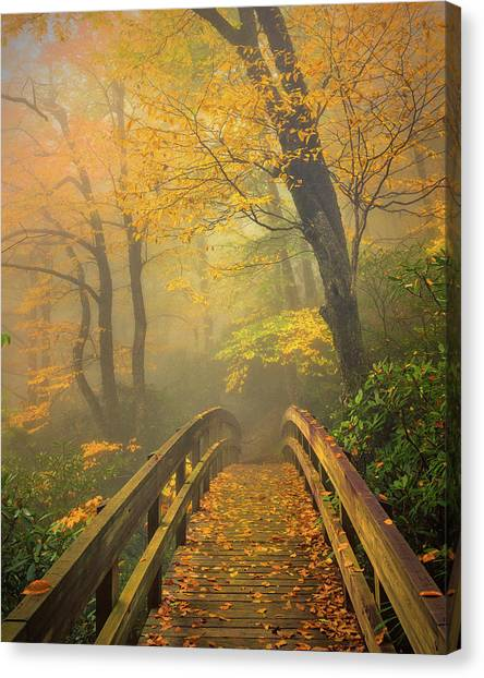 Autumn's Bridge To Heaven Canvas Print