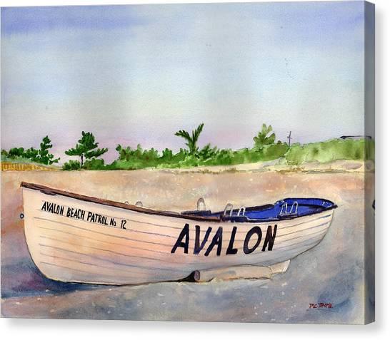Avalon Beach Patrol Canvas Print by Paul Temple