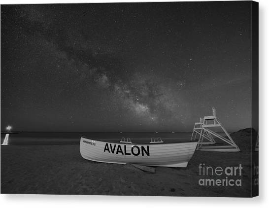 Avalon Milky Way Bw Canvas Print