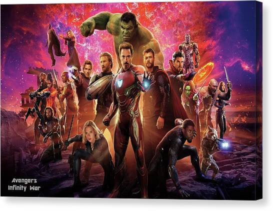 Black Widow Canvas Print - Avengers Infinity War by Movie Poster Prints