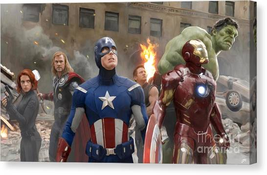 Black Widow Canvas Print - Avengers by Paul Tagliamonte