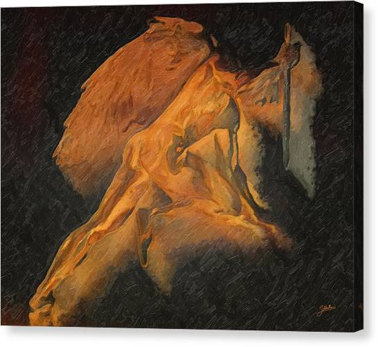 Atheism Canvas Print - Avenging Angel by Joaquin Abella