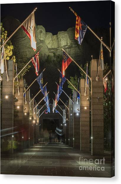 Washington Nationals Canvas Print - Avenue Of Flags by Juli Scalzi
