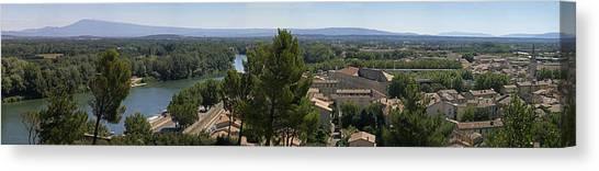 Avignon On The Rhone Canvas Print by Gary Lobdell