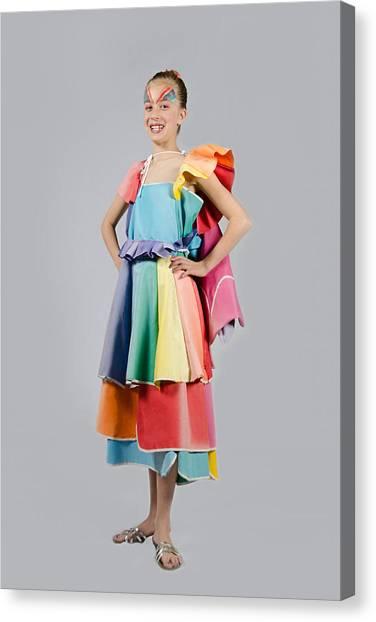 Aviva In Patio Umbrella Dress Canvas Print