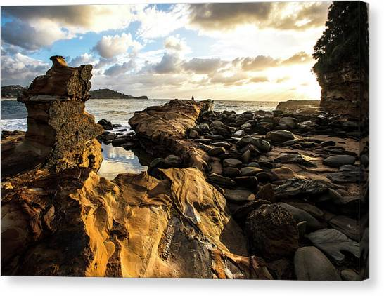 Avoca Rocks Mk1 Canvas Print by David Benson