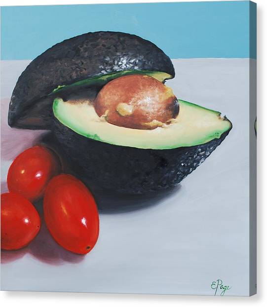 Avocado And Cherry Tomatoes Canvas Print
