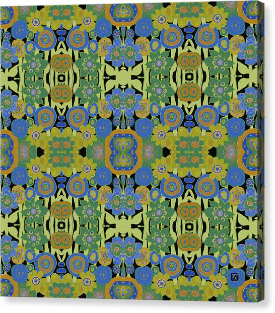 Avocado Blue Pattern Canvas Print