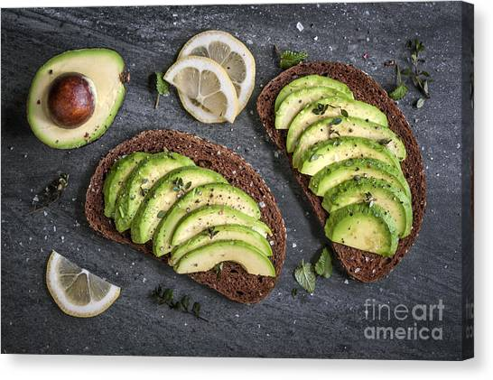 Sandwich Canvas Print - Avocado Sandwich by Elena Elisseeva