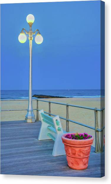 Avon Boardwalk At Twilight Canvas Print