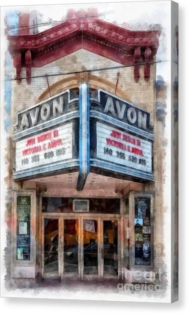 Brown University Canvas Print - Avon Cinema Theater East Providence Rhode Island by Edward Fielding
