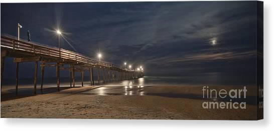 Avon Pier At Night Canvas Print