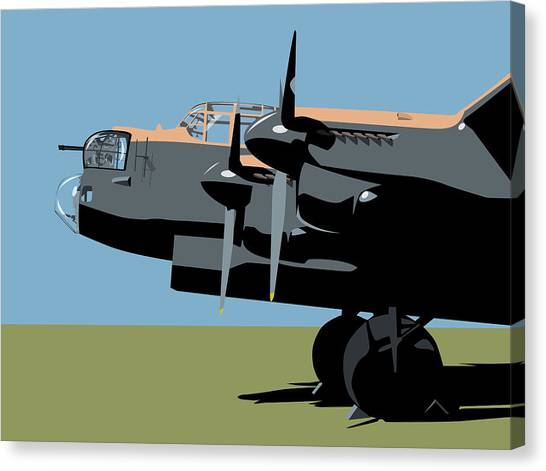 Aircraft Canvas Print - Avro Lancaster Bomber by Michael Tompsett