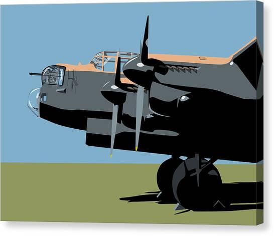 Bombers Canvas Print - Avro Lancaster Bomber by Michael Tompsett