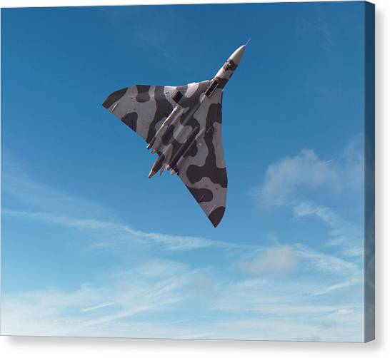 Canvas Print featuring the digital art Avro Vulcan -1 by Paul Gulliver