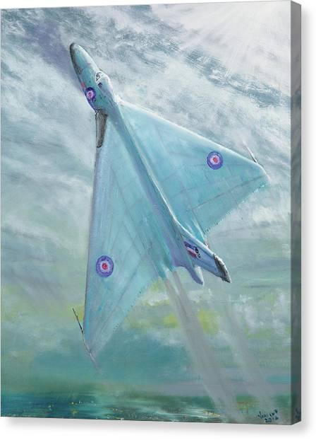 Vulcans Canvas Print - Avro Vulcan B1 Night Flight by Vincent Alexander Booth