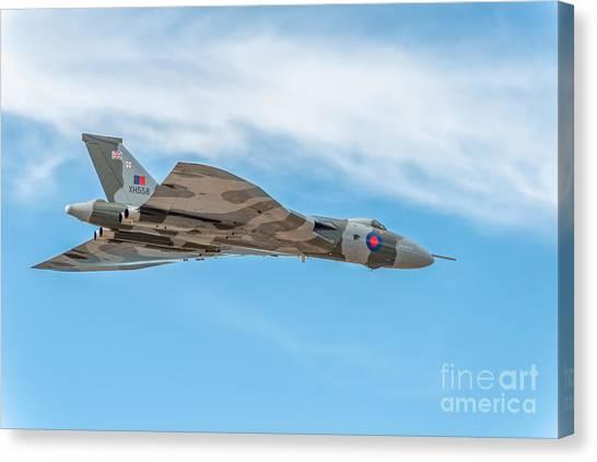 Vulcans Canvas Print - Avro Vulcan Xh558  by Adrian Evans