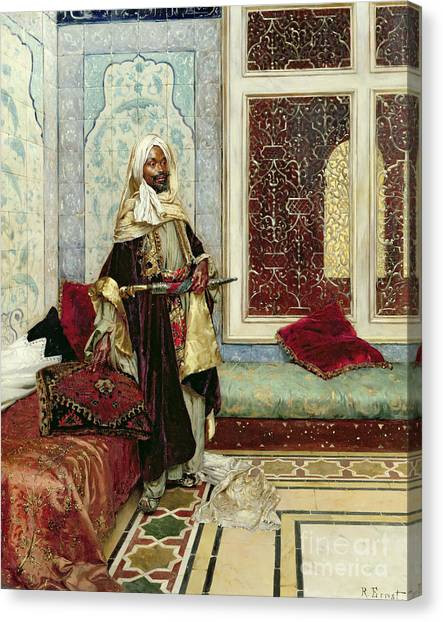 Moorish Canvas Print - Awaiting An Audience by Rudolphe Ernst